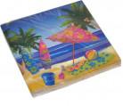 16 Serviettes en papier Vacances Hawaï 33 x 33 cm