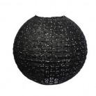 Lanterne japonaise dentellée noir 35 cm