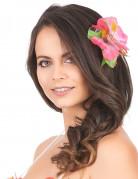 Barrette fleur rose Hawaï