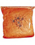 Fausse toile d'araignée orange Halloween