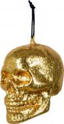 Petite décoration crâne doré Halloween