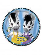8 Assiettes en carton Zou™ 22 cm