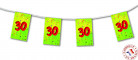 Guirlande fanions papier 30 ans 4m