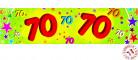 Banderole papier 70 ans 0,16x2,44m