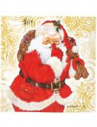 20 Serviettes en papier Père Noël 33 x 33 cm
