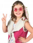 Couronne fleurs roses enfant