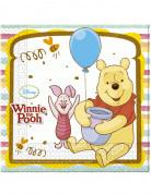 20 Serviettes en papier Winnie l'ourson™ 33 x 33 cm