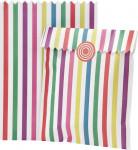 10 Sachets papier rayés multicolores