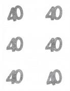 6 Confettis anniversaire 40 ans 6 x 5 cm