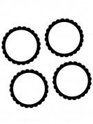 20 Autocollants noir et blanc 5 cm