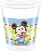 8 Gobelets en plastique Bébé Mickey ™ 20 cl