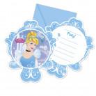 6 Cartes d'invitation avec enveloppes Cendrillon™