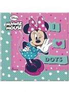 20 Serviettes en papier Minnie ™ 33 x 33 cm