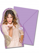 6 Cartes d'invitation avec enveloppes Violetta™