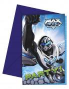 6 Cartes invitations Max Steel ™