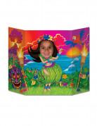 Passe tête en carton Hula Girl Hawaï 94 x 64 cm
