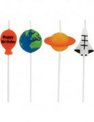 4 Bougies anniversaire de l'espace