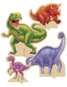4 Centres de tables Anniversaire Dinosaures 18 et 30 cm