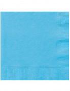 20 Serviettes en papier bleu lagon 33 x 33 cm