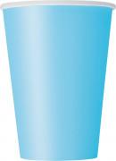 10 Gobelets en carton bleu pastel 355 ml