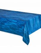 Nappe bleue en plastique vagues de l'océan 137 x 274 cm