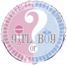 Ballon Aluminium Girl or Boy 46 cm