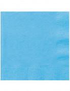 50 Serviettes en papier bleu ciel 33 x 33 cm