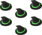 6 Mini disques en sucre chapeaux de sorcière Halloween