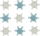 9 Mini Flocons de neige en sucre 2.5 cm Noël