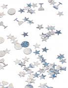 Trio de confettis argentés