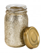Pot en verre pailletté or