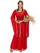 Déguisement médiéval rouge effet velours femme