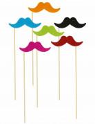 6 Pics moustaches fluos
