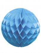 Boule papier alvéolée bleue 25 cm