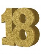 Décoration de table 18 ans dorée 20 x 20 cm