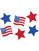 6 Décorations cartonnées USA 15 cm