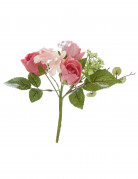 Petit bouquet de roses fuchsia artificielles 18 x 14 cm