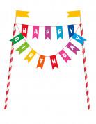 Décoration pour gâteau Happy Birthday 21 x 14 cm