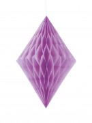 Losange alvéolé violet 35 cm