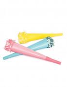 6 Trompettes pastels 20 cm