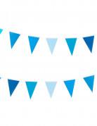 Guirlande petits fanions bleus 2 m