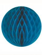Boule papier alvéolée bleu canard 12 cm