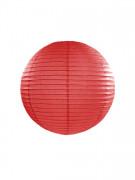 Lanterne japonaise rouge 25 cm