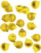100 Pétales de rose en tissu doré