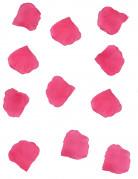 100 Pétales de rose en tissu fuchsia 5 x 5 cm
