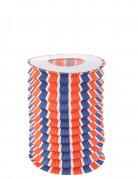 12 Lampions tricolore bleu, blanc et rouge 16 cm