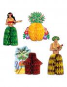 4 Centres de table Hawaï