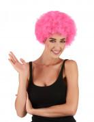 Perruque afro/clown rose standard adulte