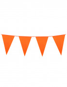 Guirlande à fanions oranges 10m