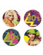 4 Pin's 80's Party 3 cm